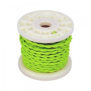 CABLE ELECTRICO ESTILO NORDICO 2X0,75 TEXTIL COLOR VERDE BROTE