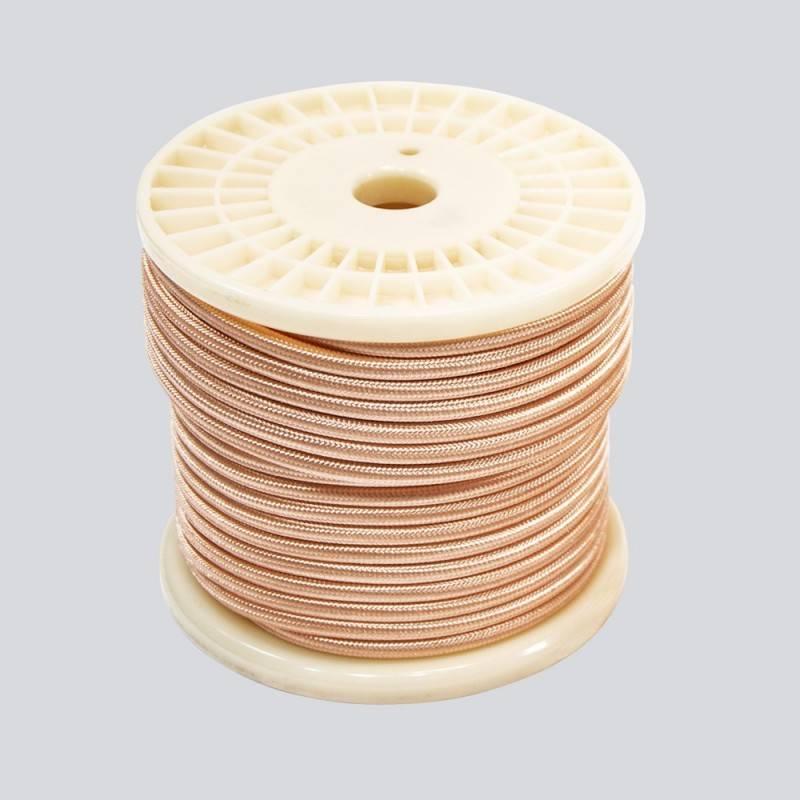 BOBINA CABLE ELECTRICO TEXTIL ESTILO VINTAGE 2X0,75 GOLD ROSE ORO ROSA