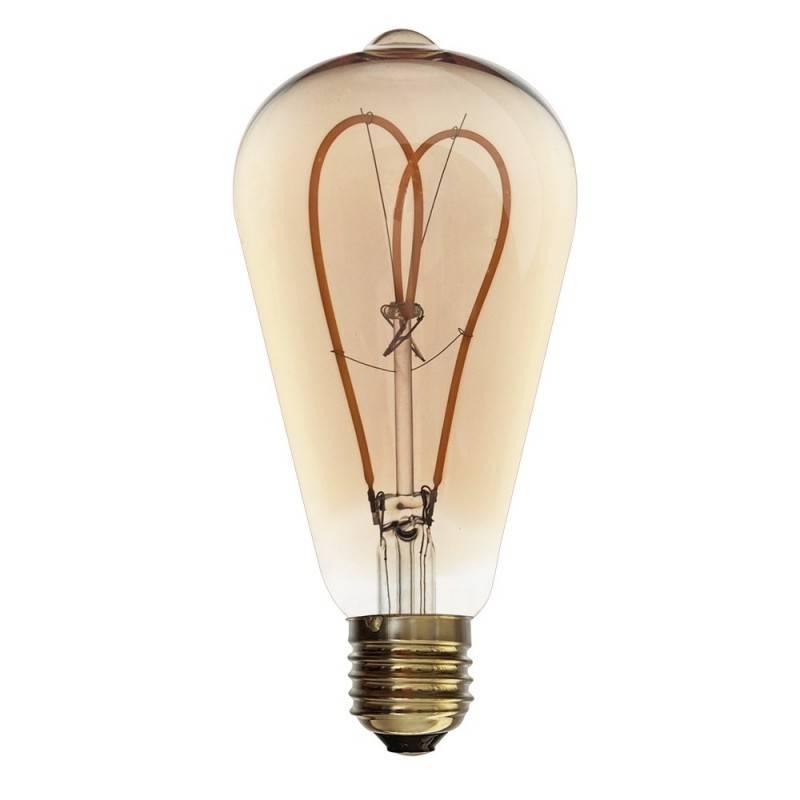 BOMBILLA LED SOFT FILAMENT GOLD VINTAGE ST64 E27 4W REGULABLE 2000K