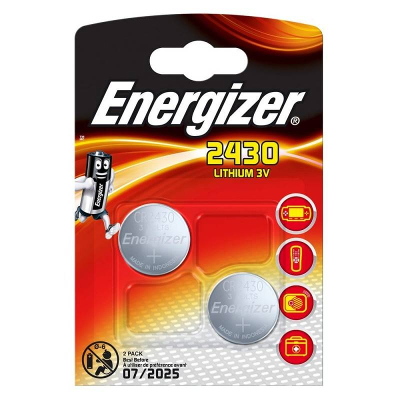 PILA ENERGIZER CR2430 DE LITIO 3V, BLISTER DE 2 UD.