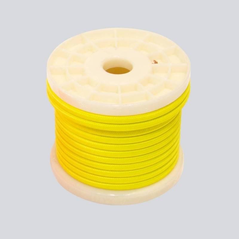 Bobina de cable eléctrico decorativo textil 2x0,75 de colores flúor