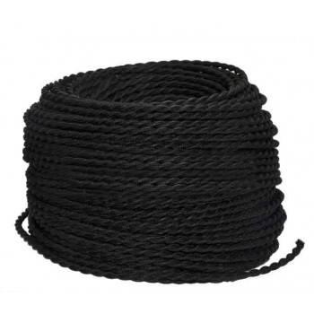 Cable eléctrico decorativo trenzado 2x0.75 varios colores