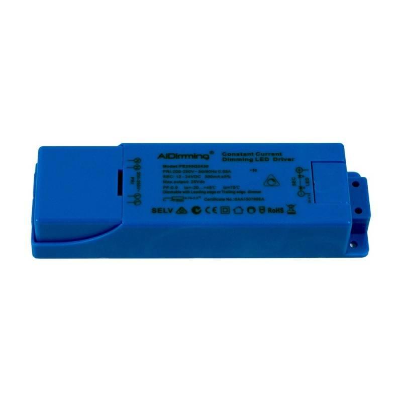 Driver dimable TRIAC de corriente constante 12-24VDC 300mA