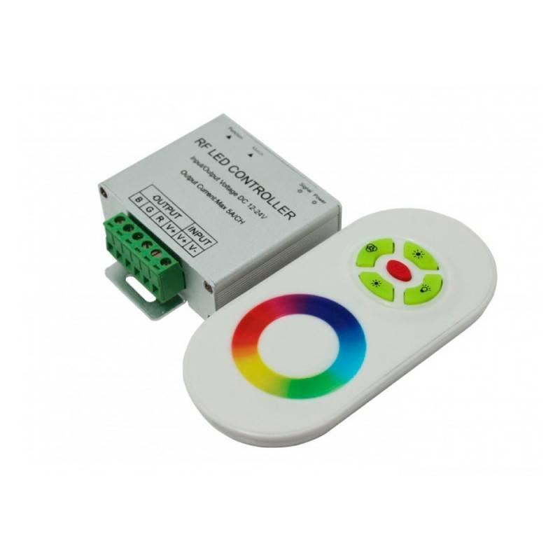 Controlador RGB 18A 12/24V DC mando círculo RGB