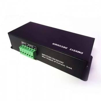 Descodificador DMX 4 canales DMX/RGB