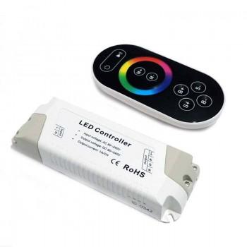 Aro empotrable redondo basculante para dicroica LED Color blanco Ø75/Ø82mm