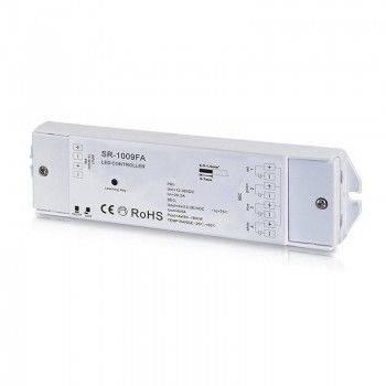 Controlador RGBW PWM 12-36V-DC (4 canales, 5A/canal) receptor RF