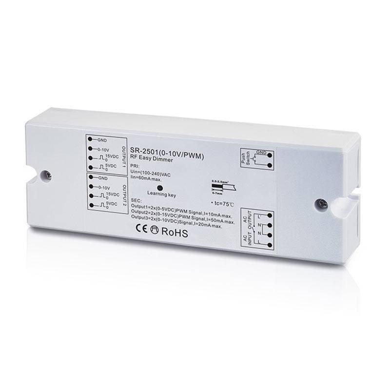 Regulador Monocolor generador de señal 0-10V receptor RF/pulsación