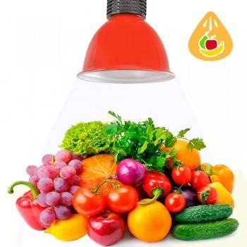 Campana LED Roja 30W especial para Frutas y Verduras