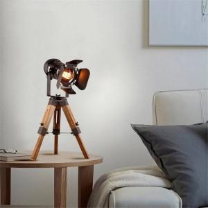 Lámpara de mesa vintage con trípode