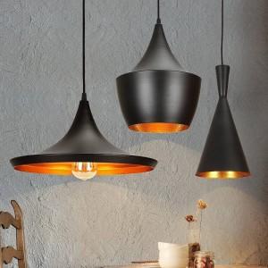 Lámpara Nórdica Negra con el estilo de Tom Dixon