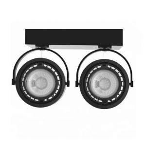 "Focos LED doble de superficie ""IRIS"" para bombilla AR111 GU10"