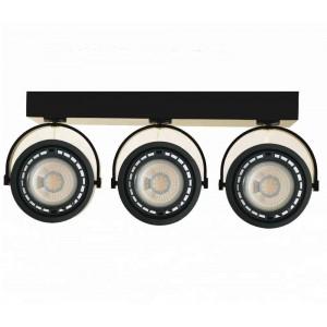 """Focos LED triple de superficie """"IRIS"""" para bombilla AR111 GU10"""