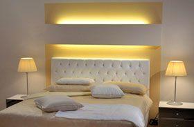 tiras blancas calidas en habitacion creando un inmejorable ambiente