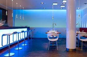 iluminacion decorativa con leds azules