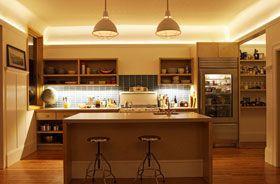 iluminacion con tiras led en el hogar