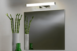 Aplique LED Baño 8W iluminación tocador espejo
