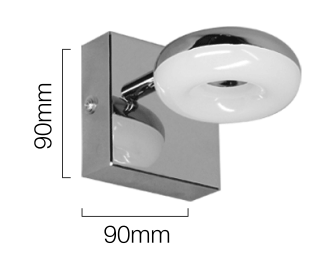 aplique de bano led orientable