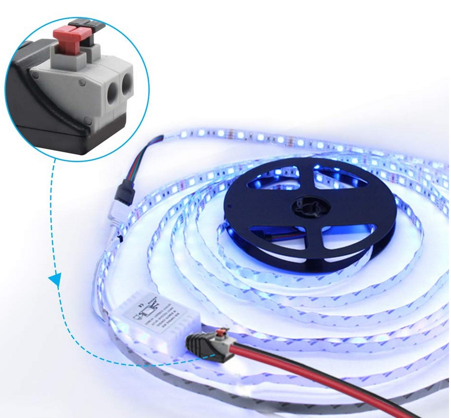 conexión rápida tiras LED