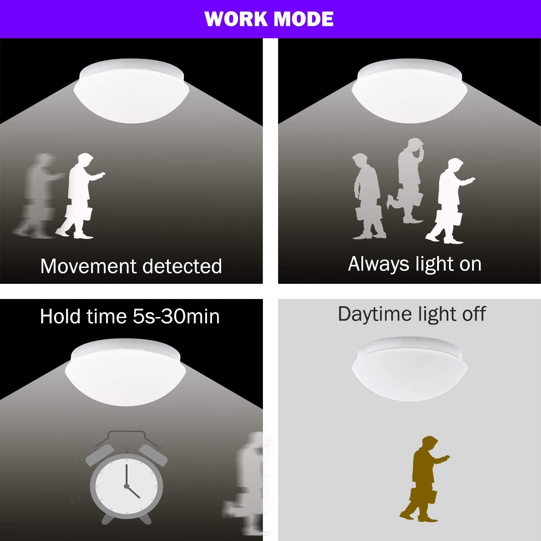 plafón LED sensor