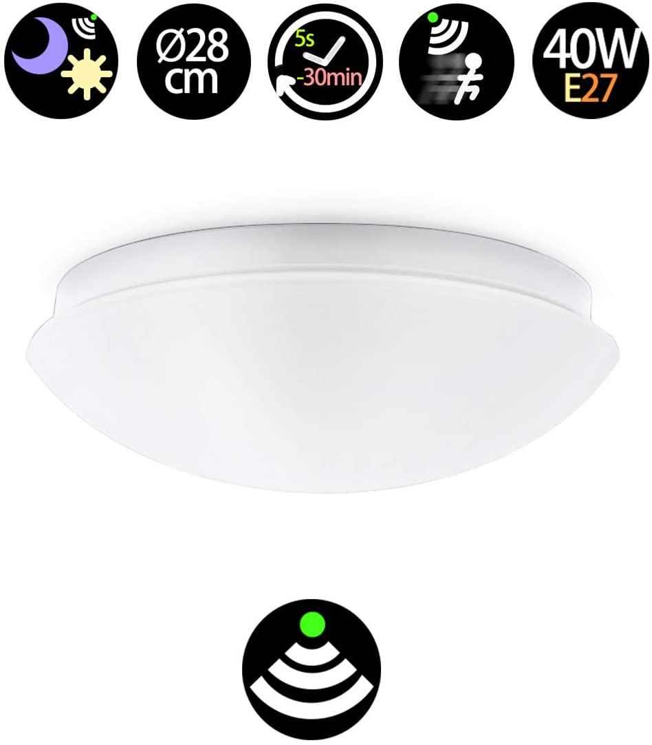 plafón LED con sensor