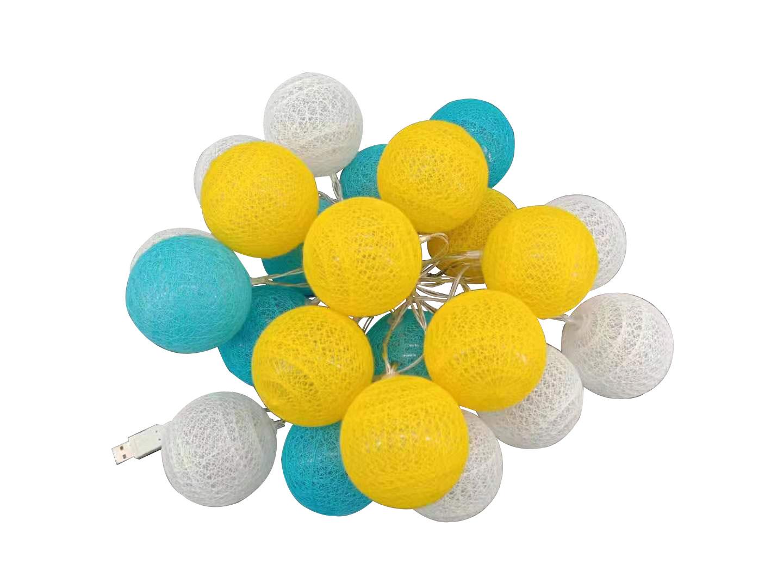 guirnalda LED azul, amarillo, blanco