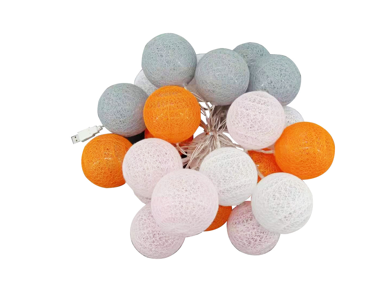 Guirnalda LED Rosa, blanco, gris y naranja
