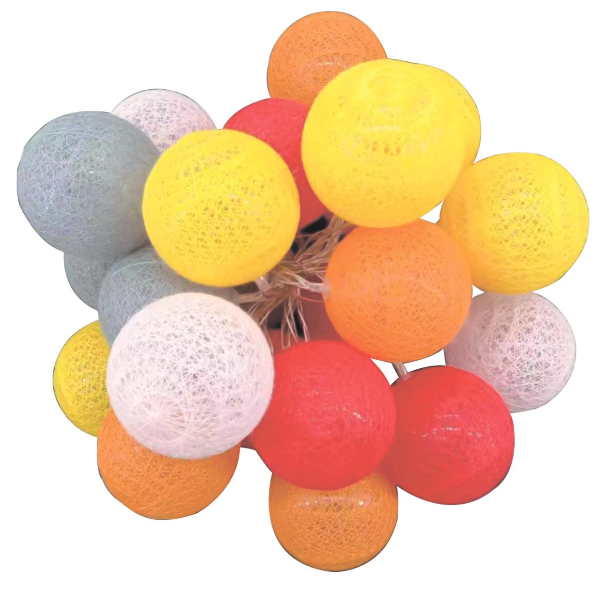 Guirnalda LED Rojo, naranja, amarillo, rosa, gris