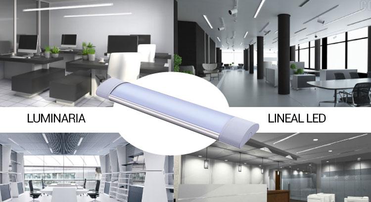 luminaria lineal led 60cm