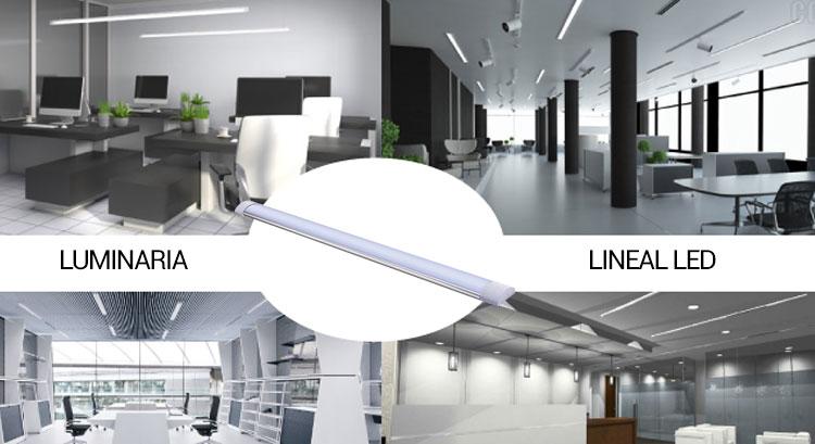 luminaria lineal led 120cm