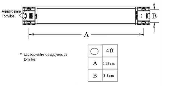 luminarias instrucciones 1200mm