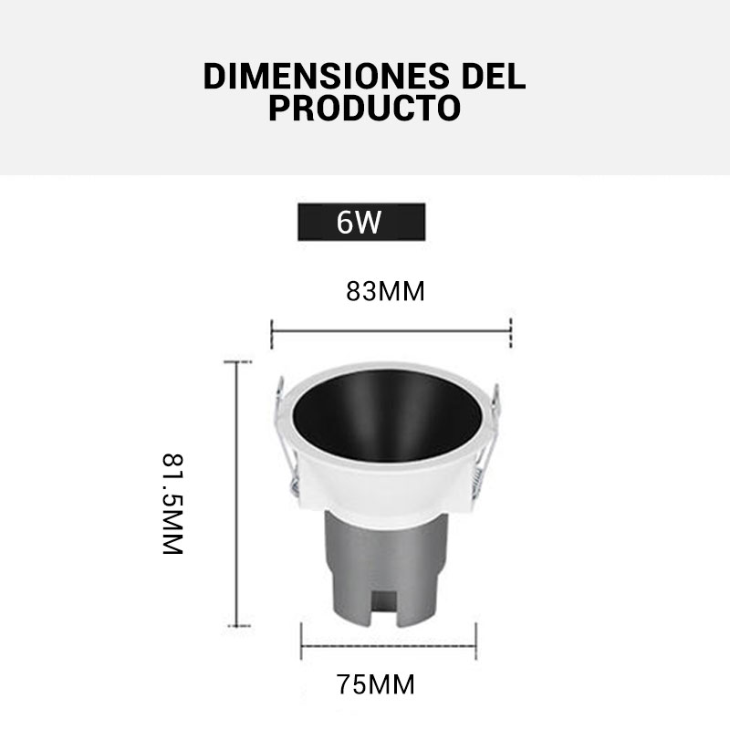 Dimensiones LED Downlights