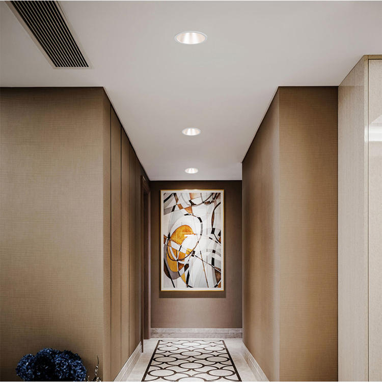 focos LED pasillos