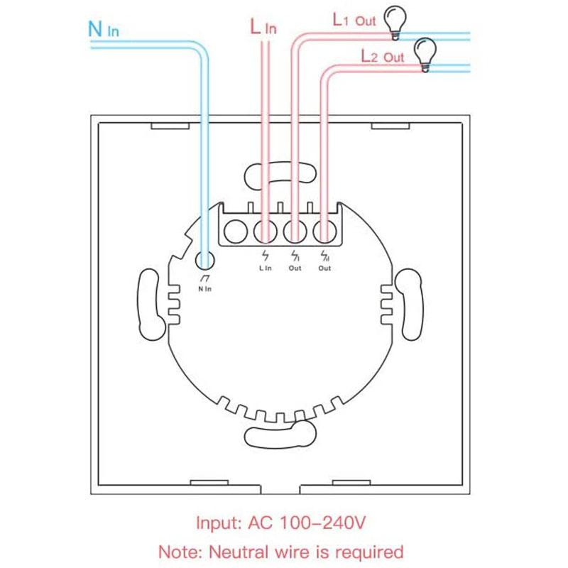 instalación interruptor táctil
