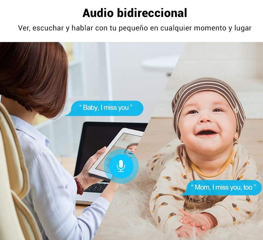 cámara audio bidireccional