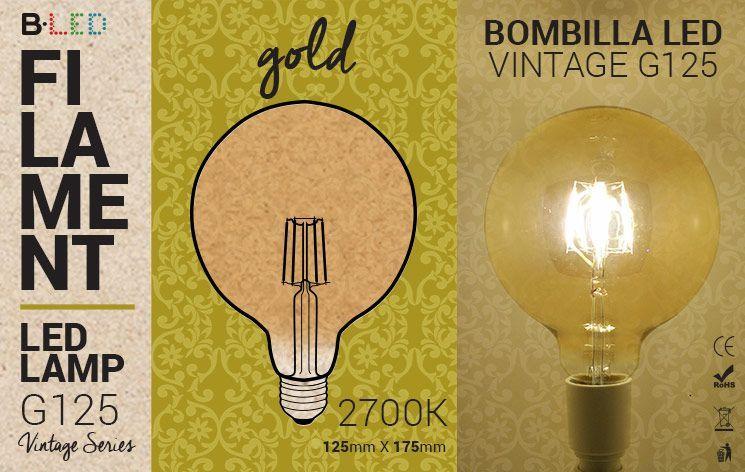bombilla led globo vintage