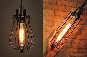 lampara vintage led alargada tubular