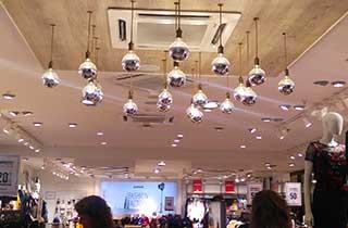 bombillas mirror en tienda comercial