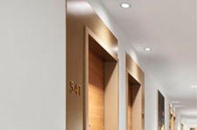led qr70 iluminacion de un hotel