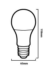 Bombilla LED A65 E27