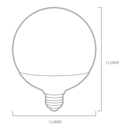 Bombilla LED Globo de gran dimension