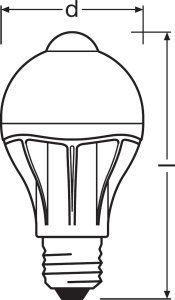 Bombilla LED con sensor movimiento alta sensibilidad y ahorro energético