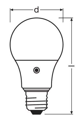 Bombilla LED Osram Sensor luz ambiente dia