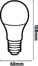 medidas bombilla LED