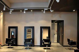 Foco LED carril trifásico blanco para negocios, centros comerciales o zonas a destacar