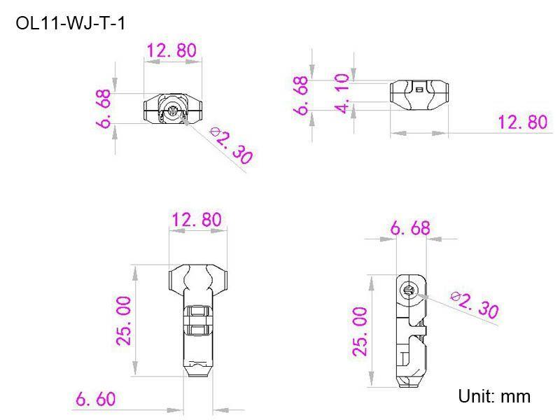 medidas conector en t 1 cable
