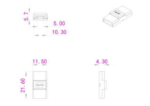 medidas conector clip union tiras