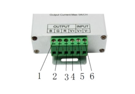 Botones conexion controlador led