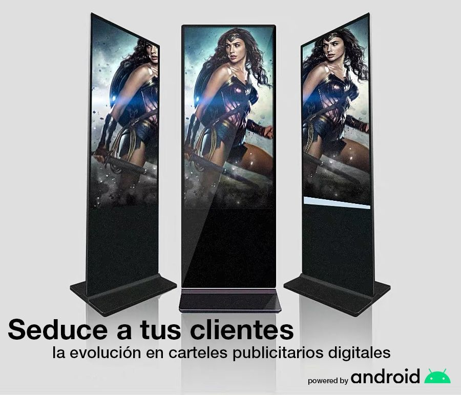 cartel publicitario digital 55 pulgadas