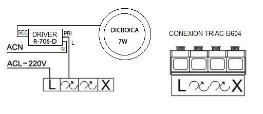 Driver Externo Dimable para Dicroica, regula la intensidad